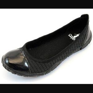 """Corkys """"Coco"""" Capped Toe Ballerina Flats"""